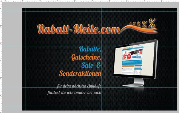 Designlayout für dien Visitenkarte von Rabatt-Meile