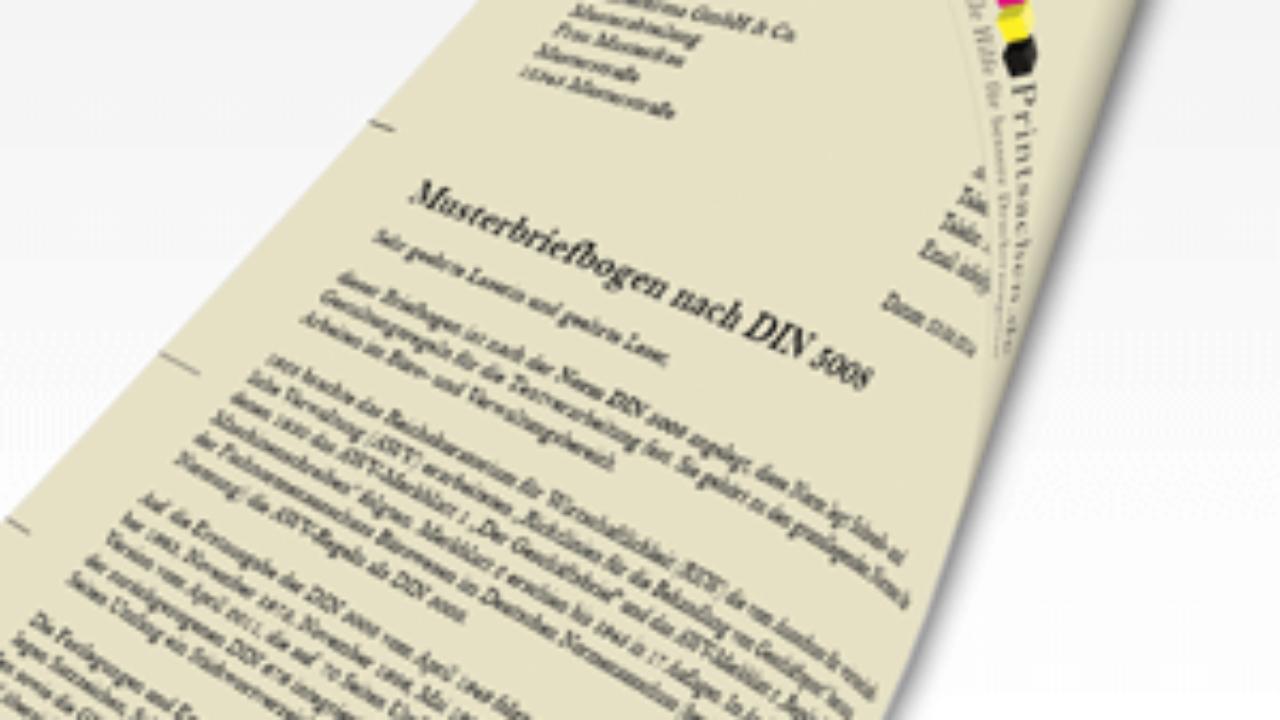 Briefpapier Nach Din Norm 5008 Erstellen Printsachen De