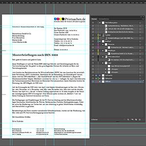 Briefpapier Nach Din Norm 5008 Erstellen Printsachende