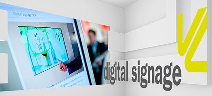 digital signage auf der Viscom