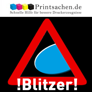 Blitzer auf Printsachen