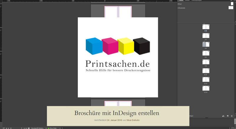 Broschüre mit InDesign erstellen