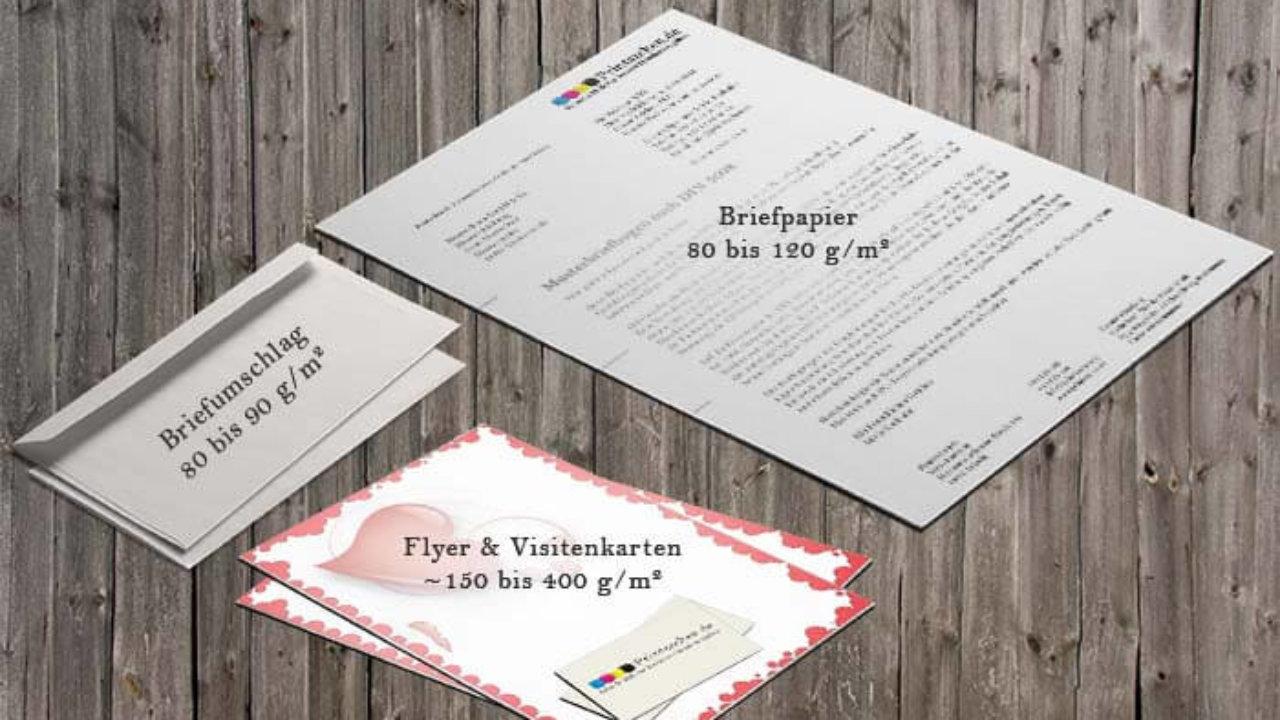Papiergrammatur übersicht Grammatur Printsachen De