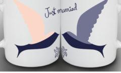 Hochzeitstassen bedrucken
