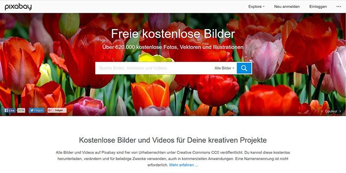 Lizenzfreie Bilder mit CC0 bei Pixabay