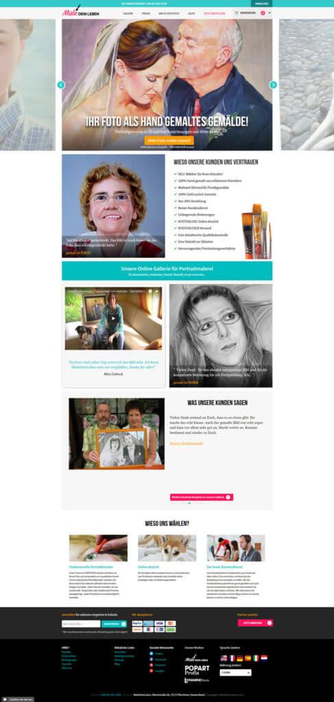 Srceenshot von Mal dein Leben Portrait online malen lassen
