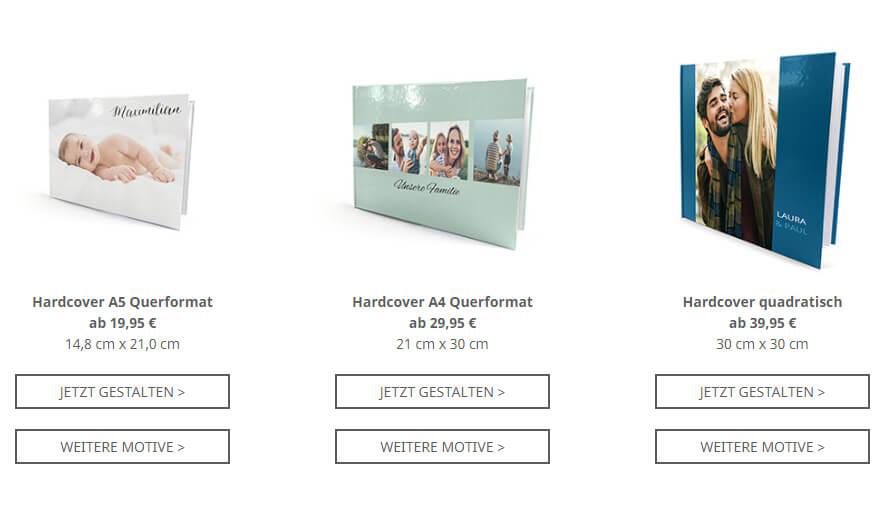 Wähle das Format für dein Fotobuch