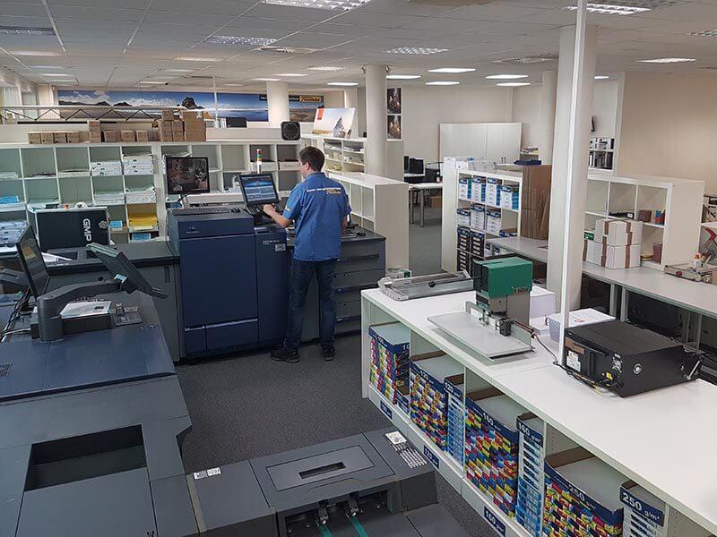 Copyshop Tiedeke Druckerei von innen