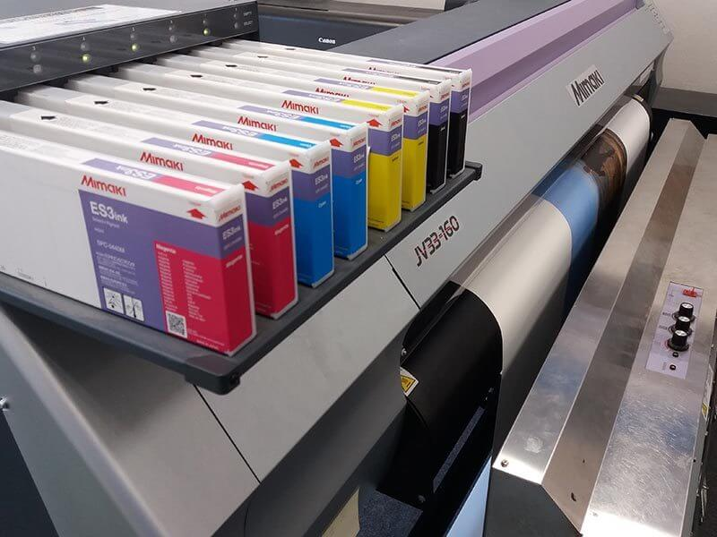 Copyshop Tiedeke Digitaldruck mit mimaki