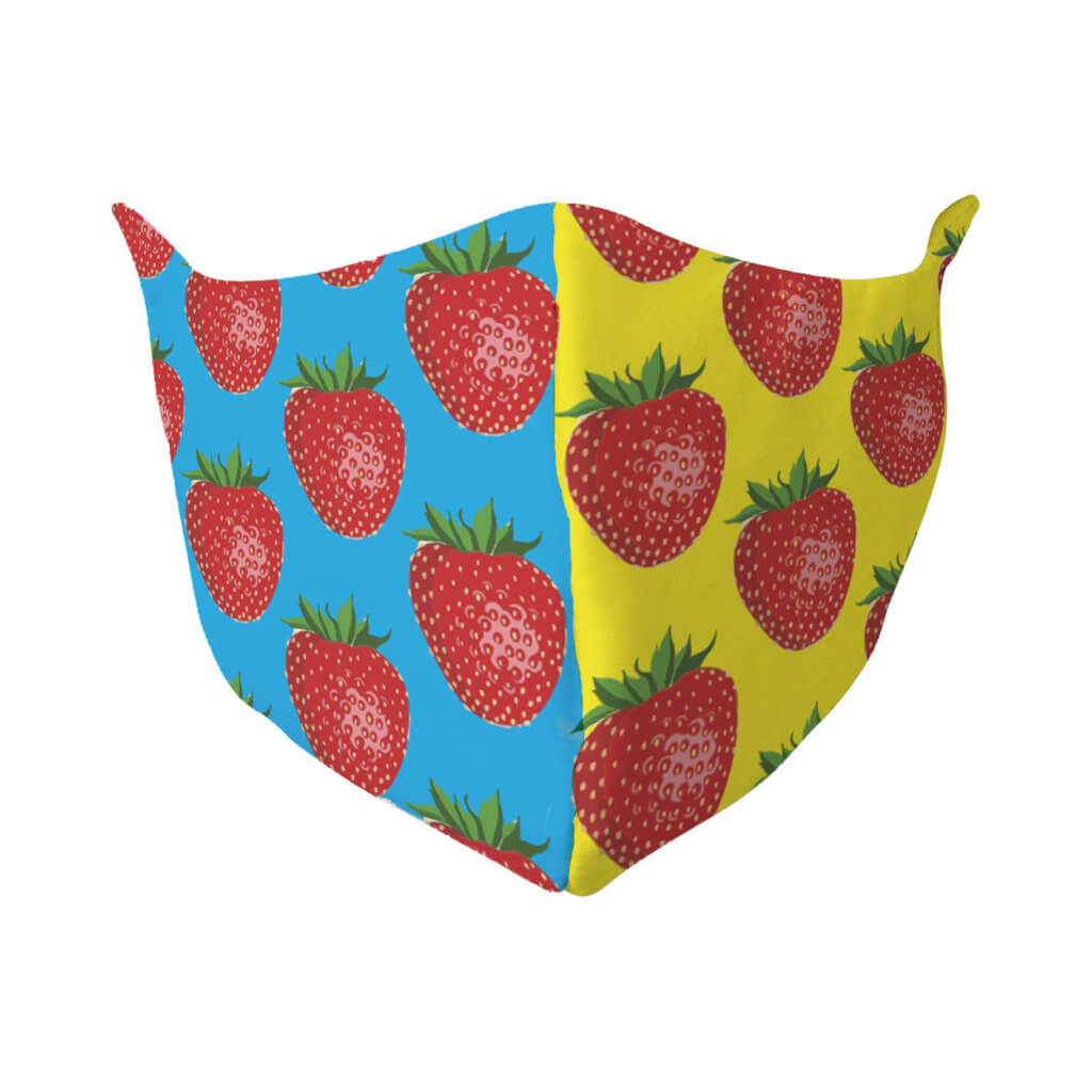 Vorlage Mundschutz bedrucken Erdbeeren