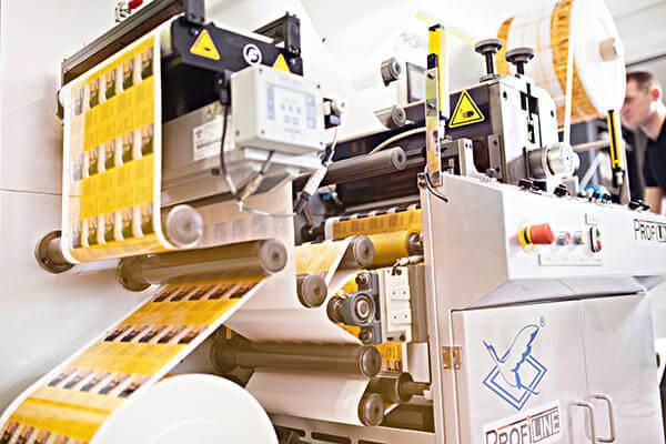 Etikettendruckmaschine