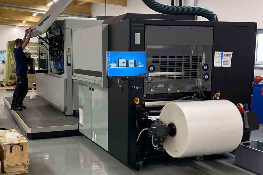Produktion von nachhaltige Etiketten auf Rolle