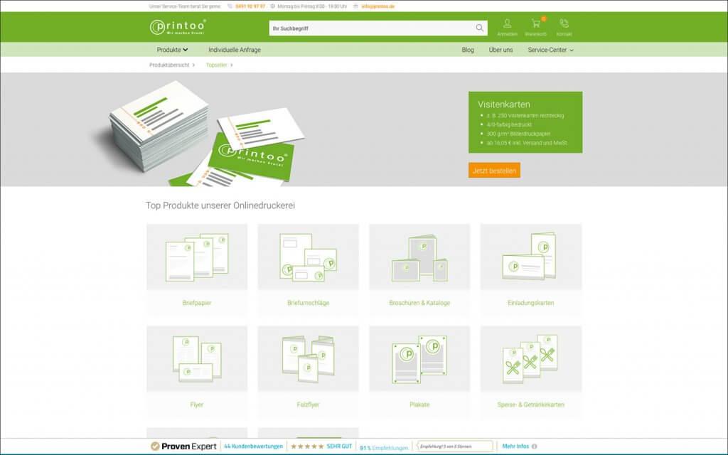 printoo Onlineshop top Produkte